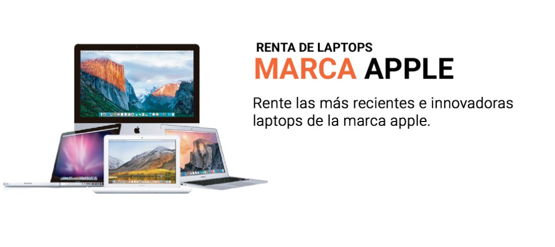 Renta de laptops de la marca Apple